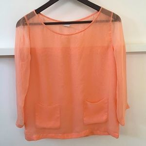 Club Monaco Peach Blouse